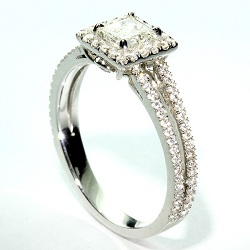 Micro pave thin split shank halo