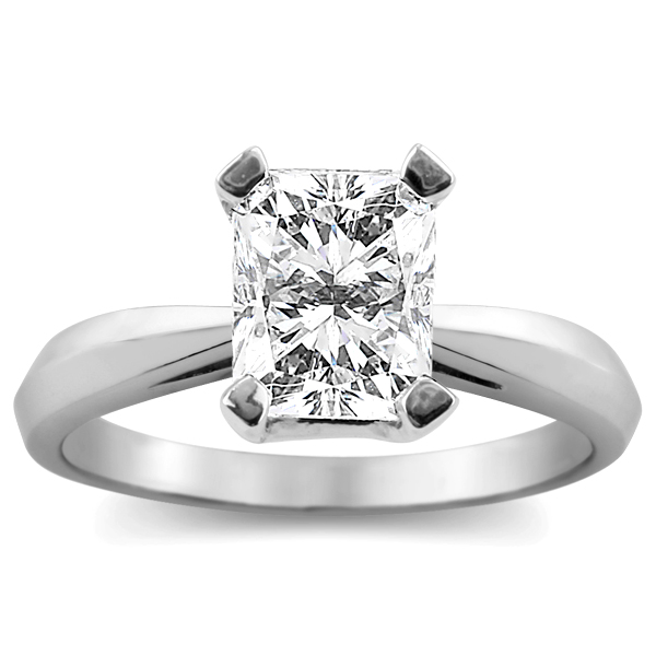 2 Carat Radiant Diamond Solitaire Ring in 14k Gold