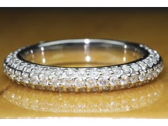 1 CTW Micro Pave Wedding Band