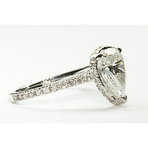 Kobe Mark Micro Pave Pear Shaped Halo Engagement Ring Kobe Mark Di