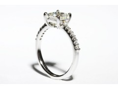 Low Set Princess Cut Engagement Ring